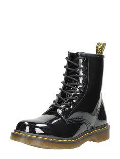 Dr. Martens 1460W boots zwart lak met spekzool