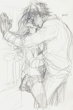 Gin and Harry by burdge Couple Sketch, Couple Drawings, Couple Art, Drawing Sketches, Art Drawings, Couples Anime, Illustration, Anime Love, Love Art