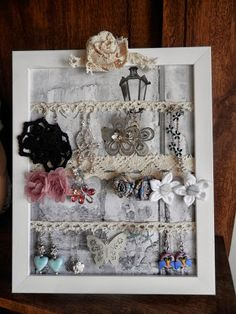1000 images about porta orecchini on pinterest fai da - Creare porta orecchini ...