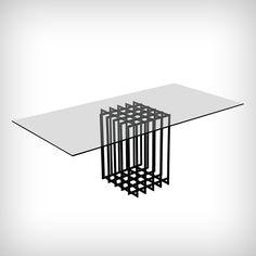 Table en verre (circa 1960), Pierre Cardin