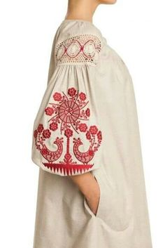 """folk costume"" - It Was A Work of Craft Folk Embroidery, Embroidery Fashion, Embroidery Dress, Folk Fashion, Womens Fashion, Ethno Style, Mode Abaya, Neue Outfits, Mode Boho"