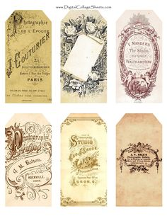 Charming Vintage tags-free printables..  http://www.flickr.com/photos/digitalcollagestudio/4610250320/sizes/l/in/photostream/