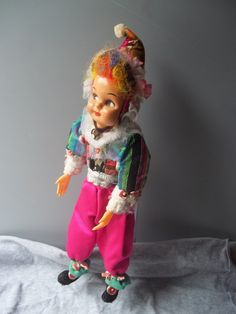Mask Face Pixie Clown Doll Posable Side Glance Hand Made by mementocollectables on Etsy