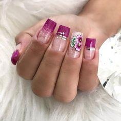 Toe Nails, Coffin Nails, Acrylic Nails, Elegant Nails, Classy Nails, Pretty Nail Art, Beautiful Nail Art, Diy Manicure, Pedicure
