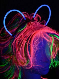 Knicklicht Haarreifen Blau  #blacklight #schwarzlicht #neon #party #fluo #psy  #glow in the dark #glow #stick #headband