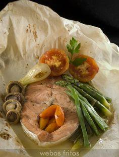Receta de salmón con verduras