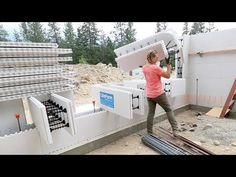 LEFT HER ALONE FOR AN HOUR! (Stacking ICF Walls) - YouTube