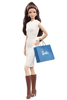 The Barbie Look Collection City Shopper Barbie Doll (Brunette) - Fashion Dolls   Barbie Collector
