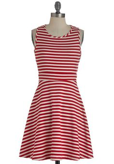 Kiss and Tell Dress in Red, #ModCloth