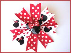 Baby Girl Minnie Mouse Spike Hairbow  Disney by Janslittlehearts, $8.95
