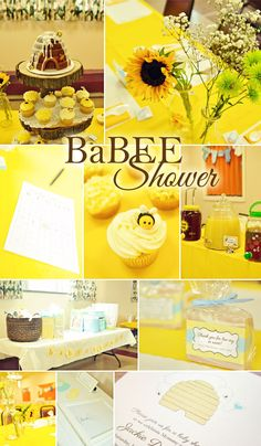 Bee Baby Shower FREE printables
