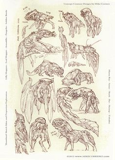 Alienspecies Thumbnails by MIKECORRIERO on DeviantArt