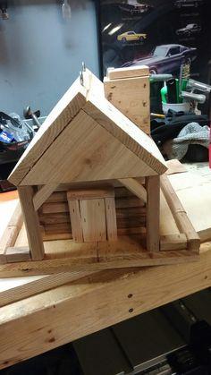 Cedar bird feeder