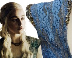 Costume Embroidery & Illustration by Michele Carragher for Film & TV - Daenerys Dragonscale Gallery