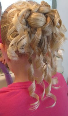 hair style for my girls for the wedding renewal...