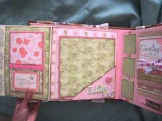 ▶ Baby Girl Scrapbook Mini Album (based on my interactive 8x8 album tutorial) - YouTube