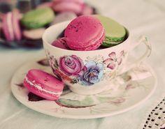 Macarons & Tea Art Print