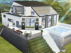 Hoanglaps Bungalow House Sims 4 Hauser Haus Bauen Hausbau Ideen 3