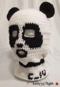 Custom Panda Bear Balaclava for Cory!  Want to order a custom mask, scarf or plushie? Contact me! knottyfingers.com  Or email me at knottyfingersdotcom [at] gmail.com
