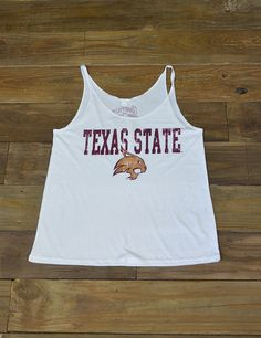Rock this new TXST Flowy tank this summer! It's the perfect way to beat the heat and show your amazing school spirit! Eat'em up, Cats!