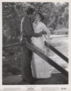 Claudette Colbert and Barry Sullivan in Texas Lady (1955).