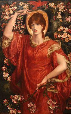 Dante Gabriel Rossetti (1828–1882)  TitleA Vision of Fiammetta Date1878 Mediumoil on canvas Dimensions146 × 90 cm (57.5 × 35.4 in) Current locationCollection of Lord Lloyd-Webber