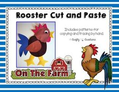 Rooster Cut and Paste Freebie