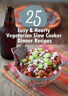25 Easy & Hearty Vegetarian Slow Cooker Dinner Recipes