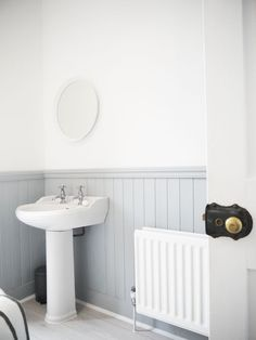 Grey tongue and groove bathroom Grey tongue and groove bathroo. Grey tongue and groove bathroom Grey tongue and groove bathroom Bathroom Inspo, Bathroom Styling, Bathroom Wall, Bathroom Inspiration, Bathroom Ideas, Washroom, Attic Bathroom, Bathroom Interior, Downstairs Cloakroom