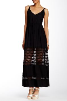 This Tiare Hawaii peek a boo lace maxi dress is gorgeous