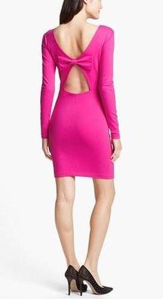 Tie a bow! Pink, Cutout Dress