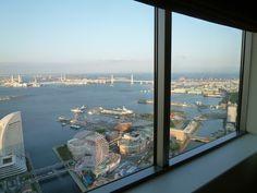 "Panorama, Camera di ""Royal Park Hotel"", Yokohama Japan (Aprile)"