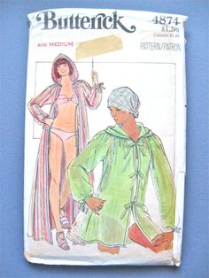 Uncut Vintage 70s Butterick 4874 swimsuit and by Fancywork on Etsy