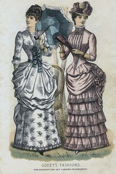 Godey's Ladies' Book, Spring 1884 Fashion Plate