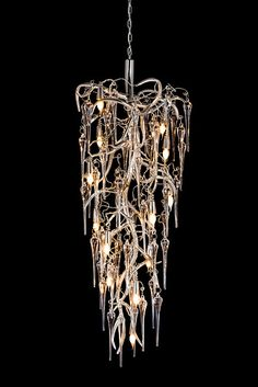 Eve Icicles modern chandeliers is part of our exclusive lighting collection. See our lighting projects with Eve Icicles in exclusive interiors worldwide. Modern Dining Room Lighting, Modern Lighting, Lighting Ideas, High End Lighting, Luxury Lighting, Lighting Design, Drawing Interior, Interior S, Interior Design