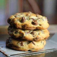 Best Soft Sour Cream Cookies with Buttercream Frosting – The Baking ChocolaTess Perfect Chocolate Chip Cookies, Semi Sweet Chocolate Chips, Chocolate Chip Recipes, Best Chocolate, White Chocolate, Divine Chocolate, Chocolate Meringue, Chocolate Bark, Tea Cakes