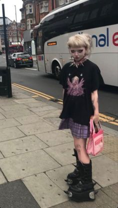 Edgy Outfits, Grunge Outfits, Pretty Outfits, Cool Outfits, Fashion Outfits, Mode Harajuku, Harajuku Fashion, Looks Dark, Looks Cool