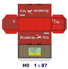 How to Build Your Own Shipping Container Garage – My Life Spot Ho Trains, Model Trains, Paper Toys, Paper Crafts, Art Carton, Train Miniature, Ho Scale Buildings, Free Paper Models, Pompe A Essence