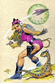 Space Girl Astral Amanda by Dan Morton *