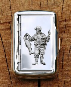 Fisherman Hand Rolling Tobacco Cigarette Tin Fishing Gift