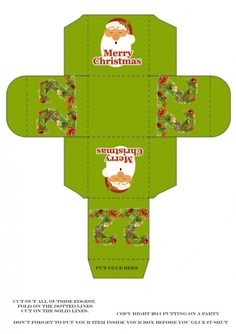 Christmas Advent Calendar printable boxes