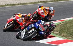 Spanish  Power. Lorenzo, Pedrosa and Marquez. Moto GP 2013