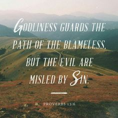 Righteousness guards the person of integrity, but wickedness overthrows the sinner.  Proverbs 13:6 #character #integrity #leadership