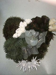 Textured heart flowers