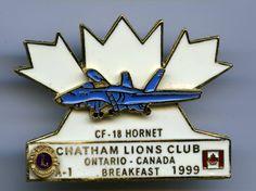 Lions Club - Chatham, Ontario - 1999 - CF-18 Hornet