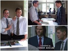 And a friendly reminder that Jensen's dad, Alan, has actually been in an episode of Supernatural. 8x03 Heartache