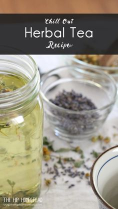 Chill Out Herbal Tea Recipe. This herbal tea recipe is a blend of calming herbs designed to help us chill out after a hectic day. This calming tea recipe is perfect served hot or cold. Herbal Remedies, Natural Remedies, Calming Tea, Organic Living, Natural Living, Tea Recipes, Lemon Balm Recipes, Detox Recipes, Coffee Recipes