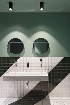 Garden State Hotel - #bathroom #interiordesign #currentaffairdesign