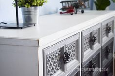 How to refinish and distress furniture. This is a great tutorial with step by step instructions for thrift store or garage sale furniture finds.