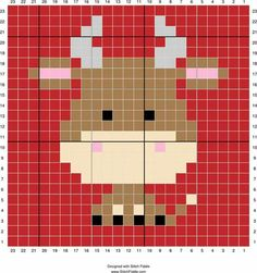 Cow cross stitch. Bull cross stitch.